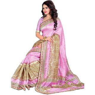 SUDARSHAN KASHMIRI SAREE-Pink-MSC836-VP-Synthetic Georgette