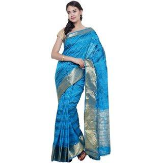 SUDARSHAN NEW RAW SILK SAREE-Blue-SUT2694-VQ-Raw Silk