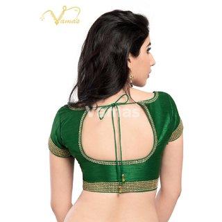 VAMAS DESIGNER NEW BLOUSES-Green-VDBMX153SL917-VQ-Net