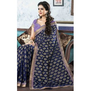 SILK INDIA NEW DESIGNER SAREE-Blue-SIIL538-VM-Dupion Silk