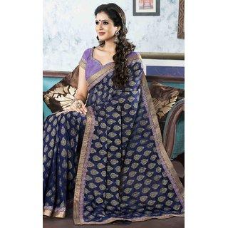 SILK INDIA NEW DESIGNER SAREE-Blue-SIIL538-VM-Dupion Silk