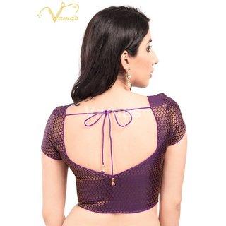 VAMAS DESIGNER NEW BLOUSES-Purple-VDBM81SL255-VQ-Net