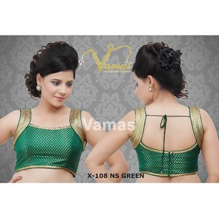 VAMAS DESIGNER NEW BLOUSES-Green-VDBMX108NS651-VP-Net