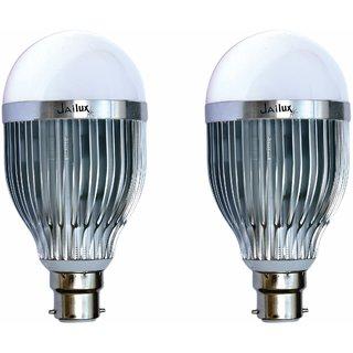 JaiLux LED Aluminium Bulb 15w, B22 Base , Pack of 2 ,  White