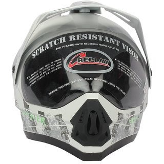 Replay Dash Decor Monster Motocross Helmet With Clear Visor