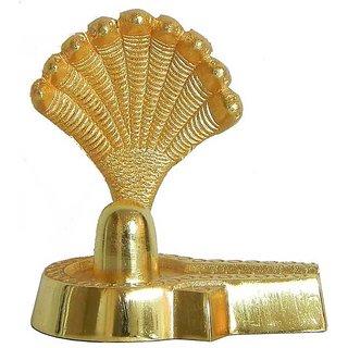 Brass Handmade Shiva Shivling With Sheshnaag