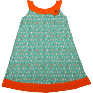 Apricot Kids Sea Green Frock For Girls