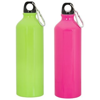 GADGE NEON SPORTS BOTTLE PINK AND GREEN SET OF 2