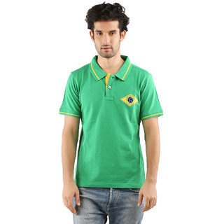 Red Line Mens Cotton POLO Bright Green T-Shirt