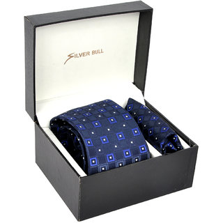 Silverbull Stylish Combo Pack Of Tie  Pocket Square