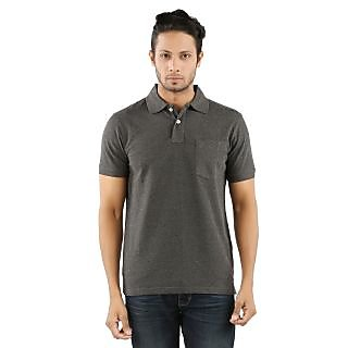 Red Line Mens Cotton POLO Anthra Melange T-Shirt