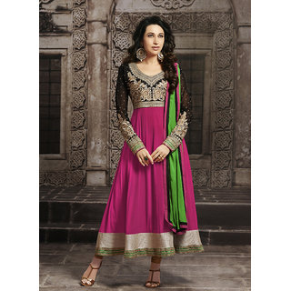 Swaron Pink  Georgette Embroidered Semi-Stitched Party Wear Salwar Suit 170D10009D