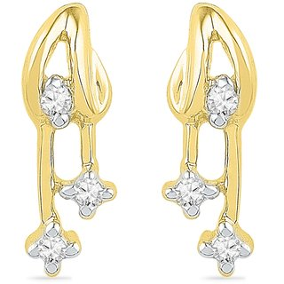 Ishis 18 Kt Beautiful  Yellow Gold Diamond Fashion Earring (0.05 CT)