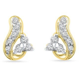 Ishis 18 Kt Fabulous  Yellow Gold Diamond Fashion Earring (0.10 CT) - Design 1