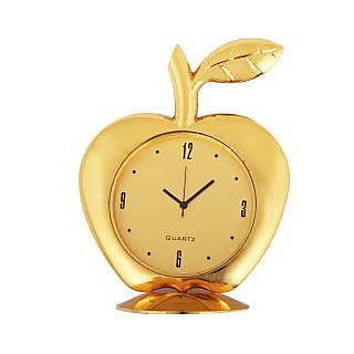 Golden Apple Table Clock