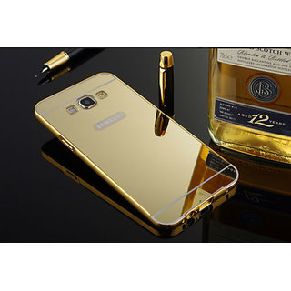 Mirror Back Cover Case Metal Frame Samsung Galaxy J2 Gold
