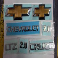 CHEVROLET CRUZE MONOGRAM EMBLEM CHROME front monogram logo emblem family pack