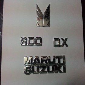 LOGO MARUTI 800 MONOGRAM EMBLEM CHROME Family Pack