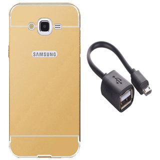Combo of mirror back  cover for samsung galaxy j2  with otg cable ng3155