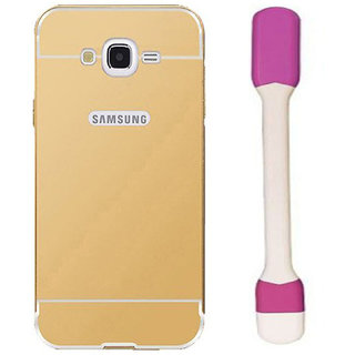 Combo of mirror back  cover for samsung galaxy j2  with usb led light ng3139