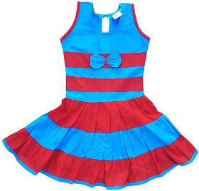 Flora Printed Cotton Frocks For Girls