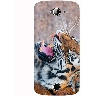 Casotec Tiger Aggression Design Hard Back Case Cover for Acer Liquid Z530