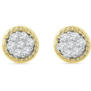 Ishis 18Kt Yellow Gold Diamond Studs Earring (0.10 CT)