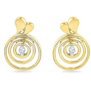 Ishis 18Kt Yellow Gold Diamond Fashion Earring (0.02 CT)