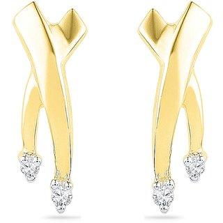 Ishis 18Kt Yellow Gold Diamond Fashion Earring (0.04 CT)