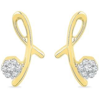 Ishis 18Kt Yellow Gold Diamond Fashion Earring (0.07 CT)