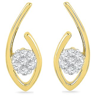 Ishis 18 Kt Vintage  Yellow Gold Diamond Fashion Earring (0.07 CT) - Design 1