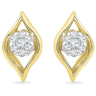 Ishis 18 Kt Vintage  Yellow Gold Diamond Fashion Earring (0.07 CT) - Design 2