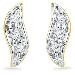Ishis 18Kt Yellow Gold Diamond Fashion Earring (0.03 CT)
