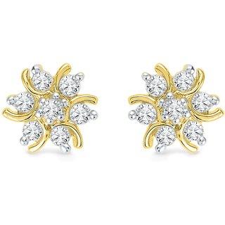Ishis 18Kt Yellow Gold Diamond Studs Earring (0.16 CT)