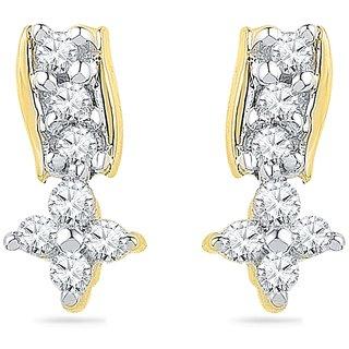 Ishis 18Kt Yellow Gold Diamond Fashion Earring (0.12 CT)