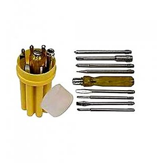 Combo of 2 Screw Driver Set With Line Tester And 8 Bits
