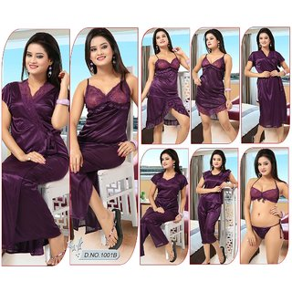 9458f1d2e4 12pc Night Wear Bra Panty Top Skirt Sleep Shirt Capri Robe Pajama Nighty  1001C Lounge Dress