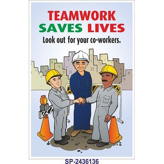 SignageShop  High quality flex Team work saves lives  Poster