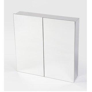 JJ Sanitaryware Lucas Stainless Steel 18 x 5 x 18 Inch Bathroom Mirror Cabinet