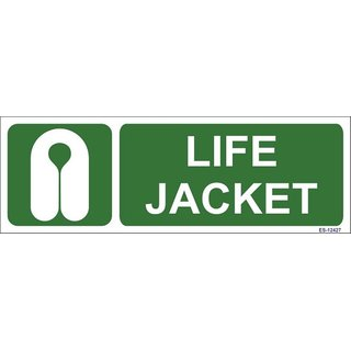 SignageShop  Glow in Dark Life Jacket  Sign