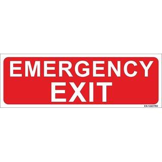 SignageShop  Glow in Dark Emergency Exit Sign
