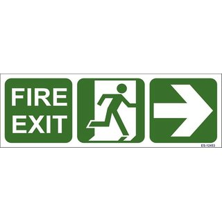 SignageShop  Glow in Dark Fire Exit with man running symbol Sign