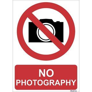 SignageShop  High quality Vinyl No photography Sign