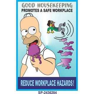 SignageShop  High quality flex Good Housekeeping promotes safe workplace Poster