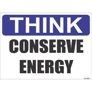SignageShop  High quality Vinyl  Conserve Energy Sign (Pack of 5 Nos)