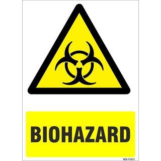 SignageShop  High quality Vinyl Biohazard  Sign (Pack of 5 Nos)