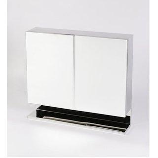 jj sanitaryware leonardo stainless steel 18 x 5 x 15 in - Bathroom Mirror Cabinet Price India