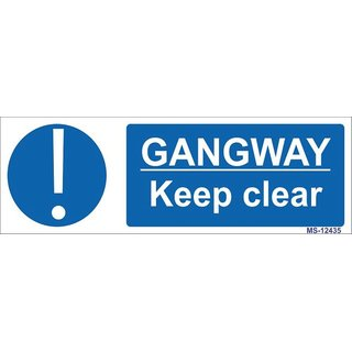 SignageShop  High quality Vinyl Gangway keep clear Sign (Pack of 5 Nos)