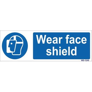 SignageShop  High quality Vinyl Wear Face Shield Sign (Pack of 5 Nos)