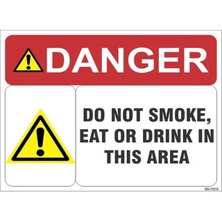 SignageShop  High quality Vinyl Do not smoke Eat or drink in this area Sign